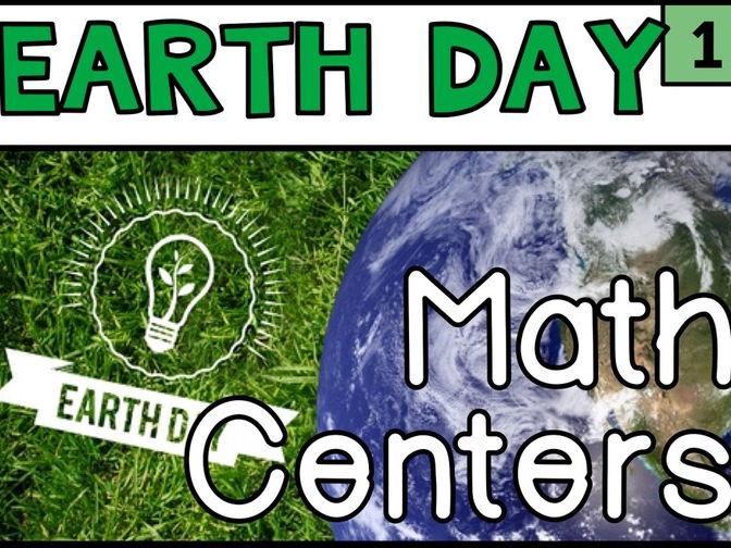Earth Day Math Year 1 Year 2