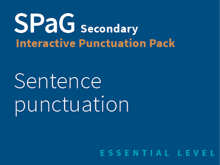 SPaG Secondary Interactive Punctuation Pack - Sentence punctuation (Essential Level)