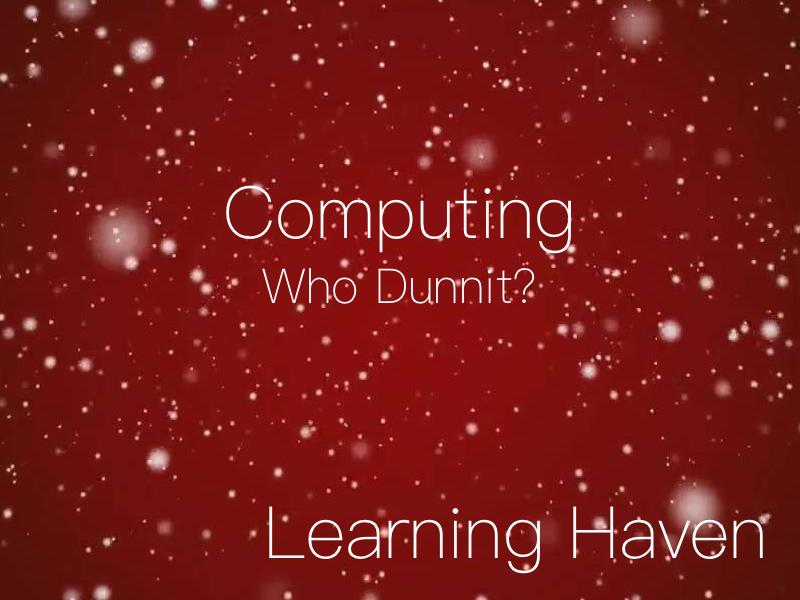 Christmas Who Dunnit? (Computing)