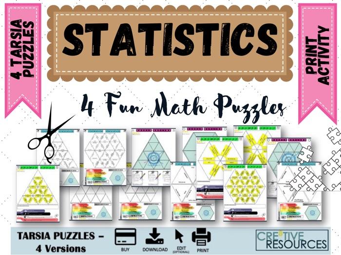 Statistics and Algebra  Puzzles