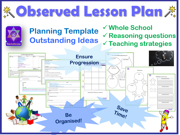 Observed Lesson Plan Template By Teachallenjoy Teaching Resources