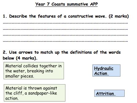 KS3 Coasts - Assessment