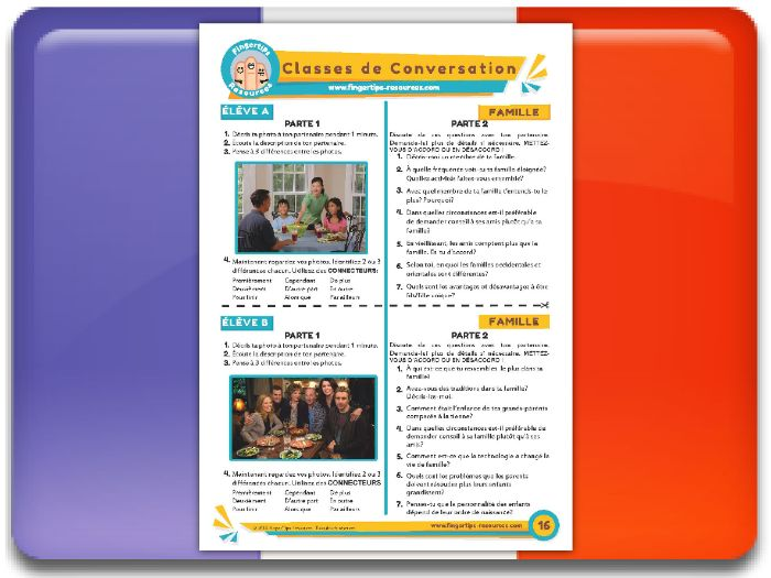 La famille - French Conversation Activity