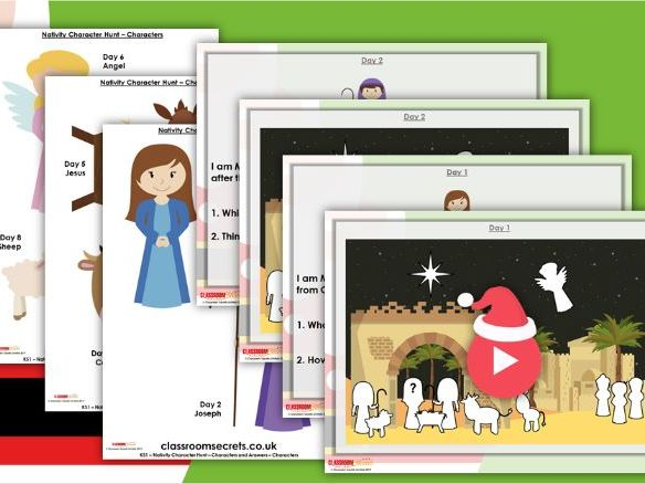Christmas KS1 Nativity Story Character Hunt Guided Reading Resource
