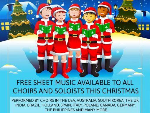 Free Popular Christmas Song For Children (Mp3's + Free Christmas Sheet Music.)