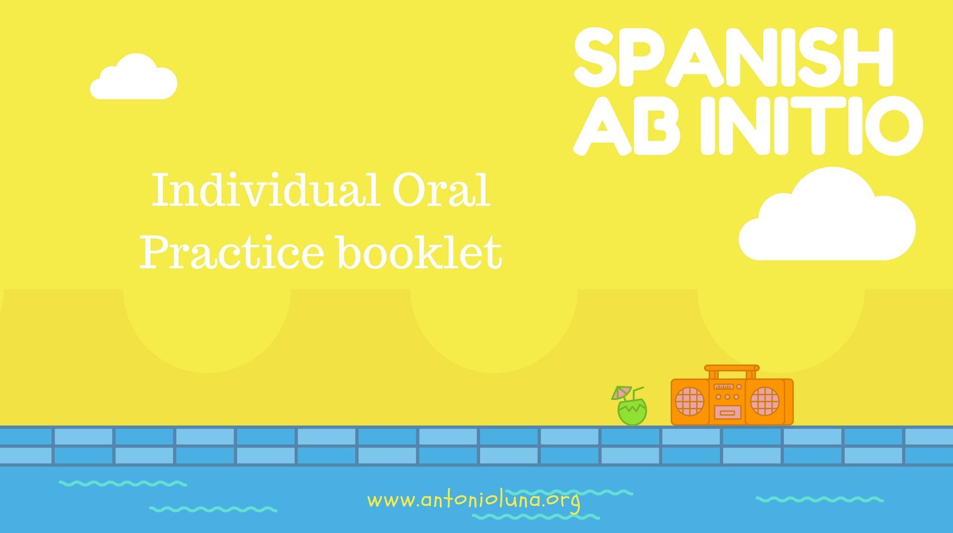 Individual Oral ab Initio booklet practice
