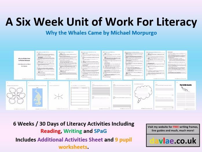 A Six Week Unit of Work for Literacy - Why the Whales Came by Michael Morpurgo