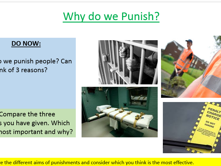 New AQA Spec A: Aims of Punishment