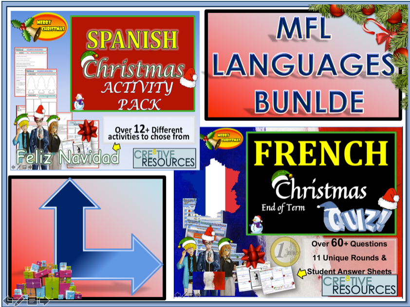 Spanish French MFL Christmas Activities