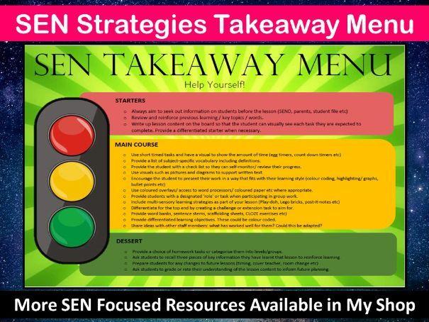SEN Strategies Takeaway Menu