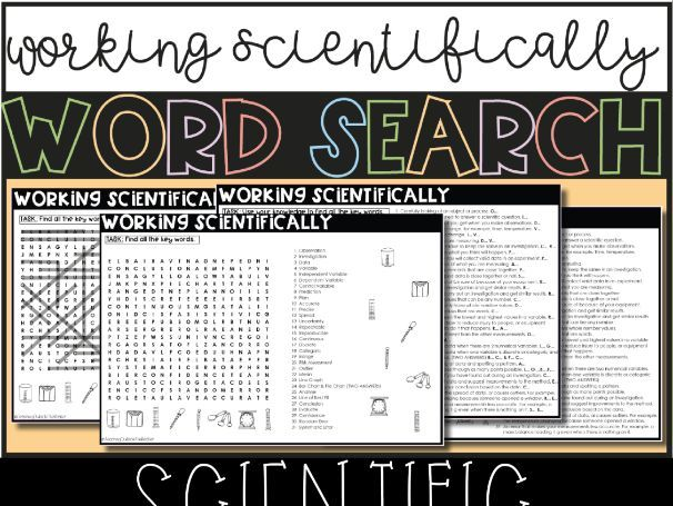 Working Scientifically Word Search