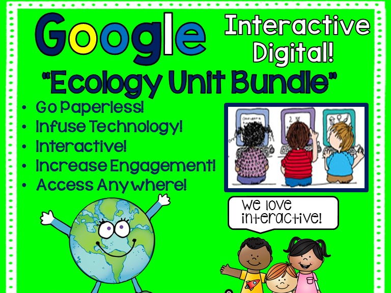 Google Drive Ecology Unit Interactive Notebook For Google Classroom