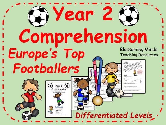 Year 2 Euro 2020 / 2021 Footballers Comprehension