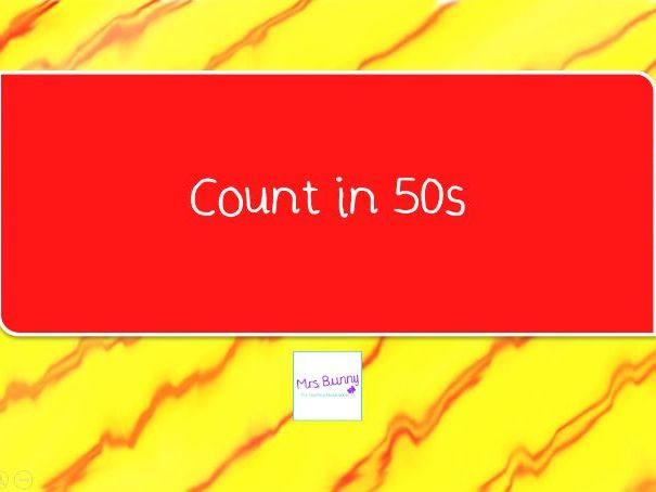10. Count in 50s lesson pack (Y3 NPV)