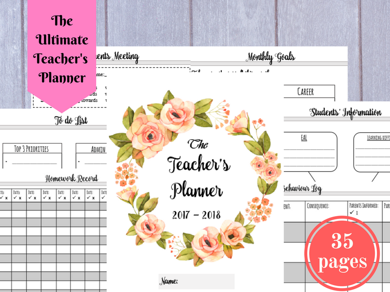 Teacher's Life Planner