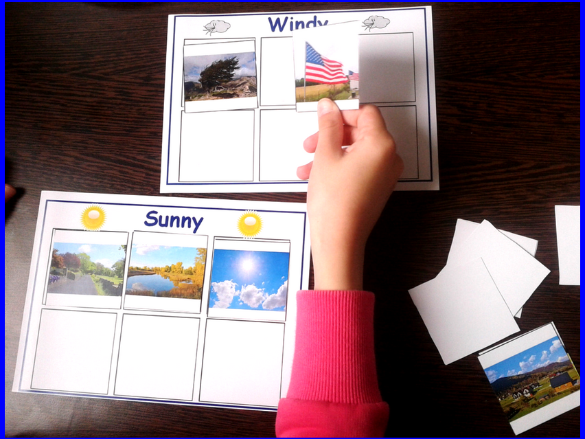 Weather Sorting Activity for Special Education