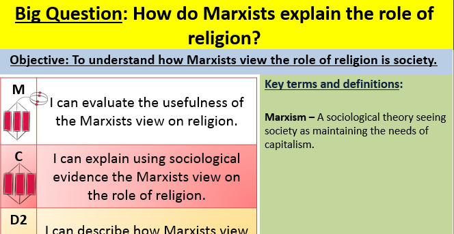 Marxism and religion lesson