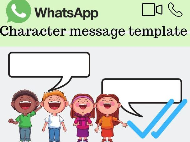 FREE printable English character worksheet: Whatsapp conversation template