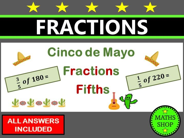 Cinco De Mayo Maths Fractions