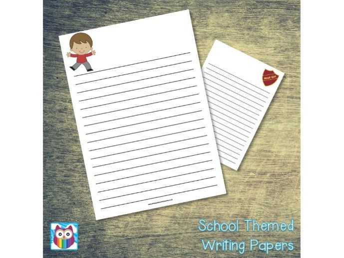 School Role Play Writing Papers