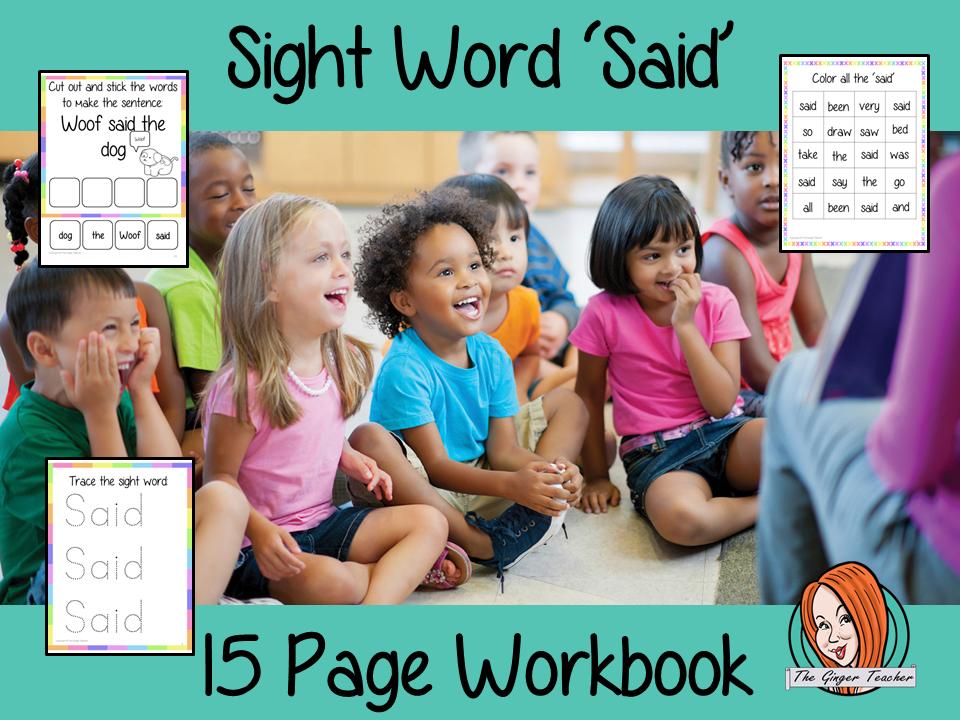 Sight Word 'Said' 15 Page Workbook
