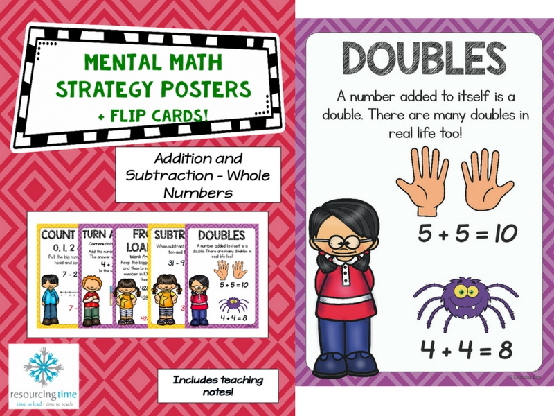 Mental Maths Strategy Posters + Flip Cards (Addition and Subtraction)