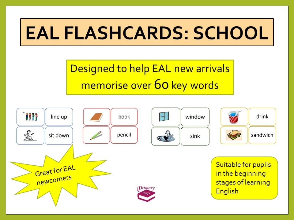 EAL Starter Flashcards: School