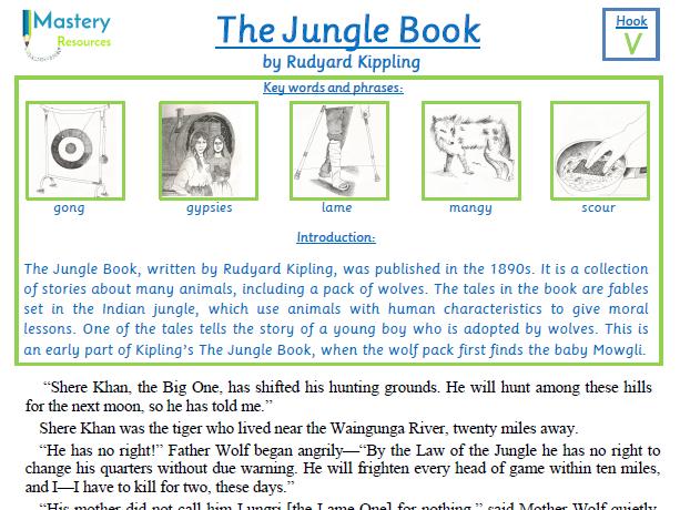 The Jungle Book by Rudyard Kippling Comprehension KS2