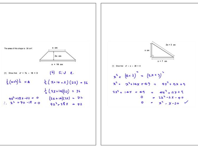 Full IGCSE Maths (0580 Cambridge) Revision notes.  200 page pdf with notes and worked solutions.