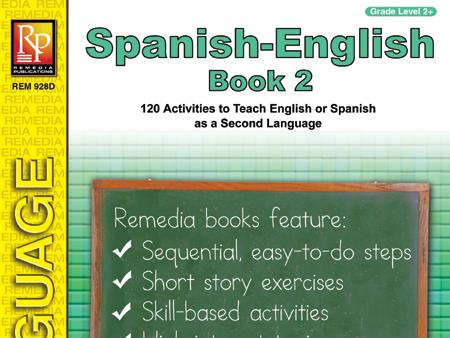 Spanish-English Vocabulary-Building Activities 2