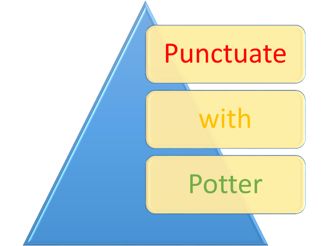Punctuate with Potter and the half-blood Prince