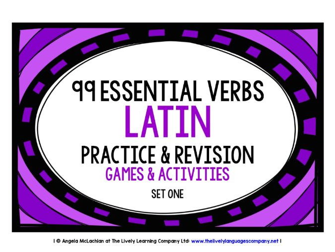 LATIN VERBS RECALL WORKBOOK & GAMES