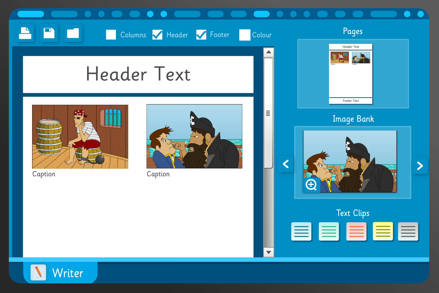 Interactive Writing Template - About Pirates - KS1 Literacy
