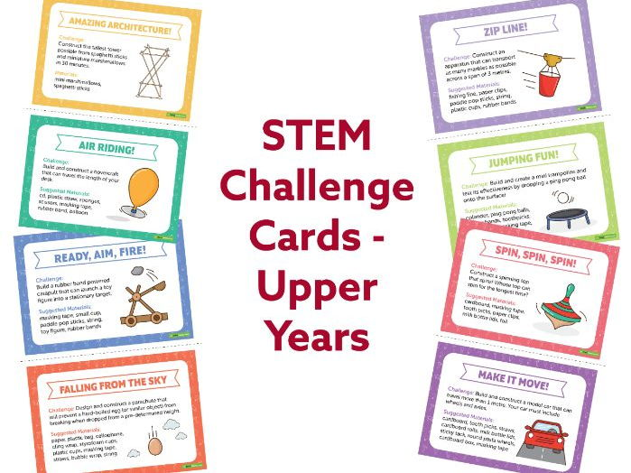 STEM Challenge Cards - Upper Years