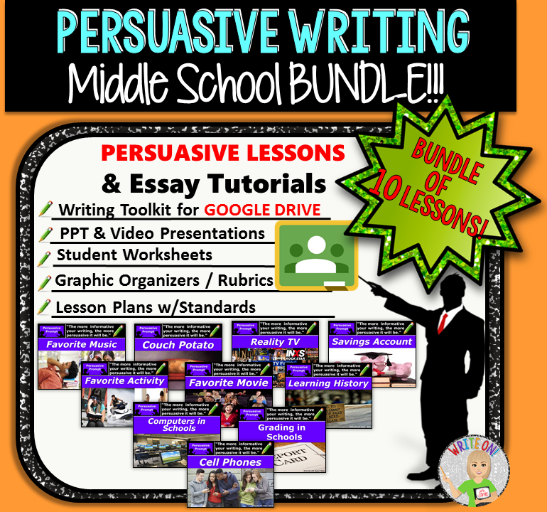 persuasive essay prompts middle school students