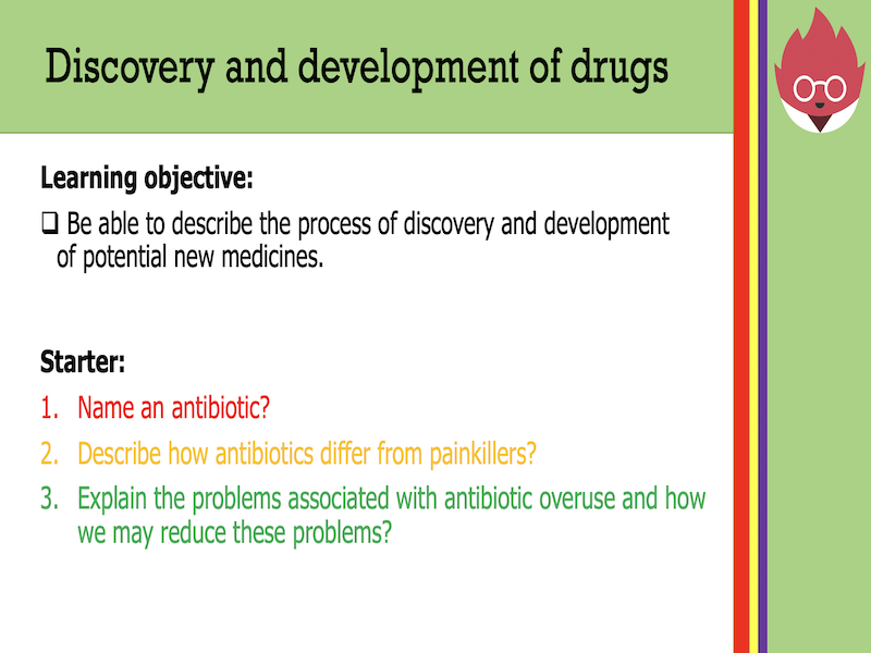 AQA GCSE Biology- Discovery and development of drugs