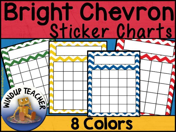 Chevron Sticker Charts - Bright