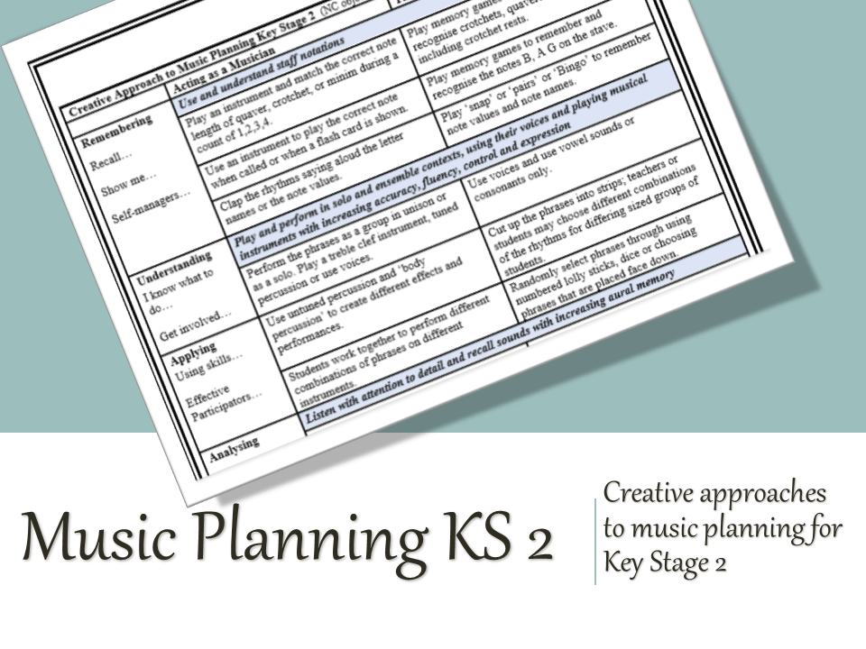 Creative Music Planning Key Stage 2