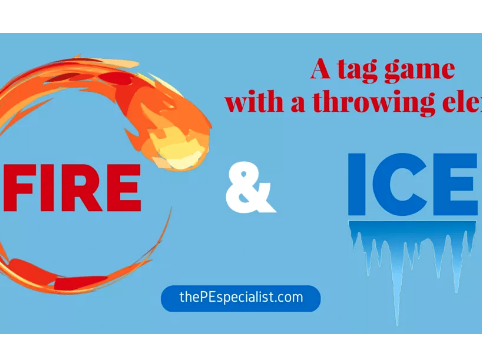 Fire and Ice: A Fun Tag Game with a Throwing Element |Great for PE Class|