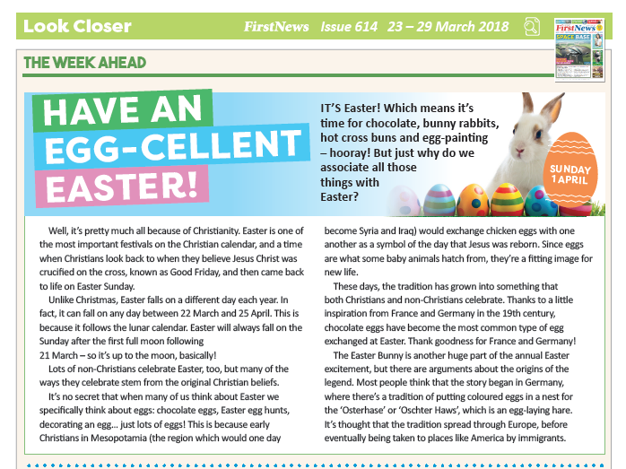 Origins of Easter KS2 Reading Activities