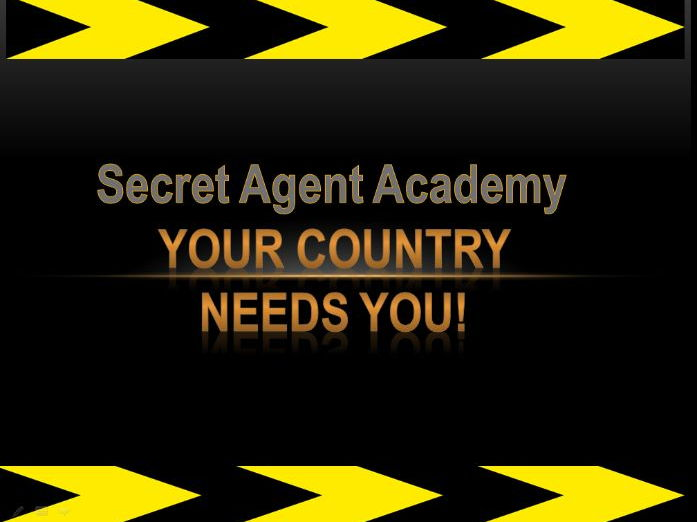 KS2 Y6 cross curricular powerpoint lesson (36 slides) Secret Agent Academy.