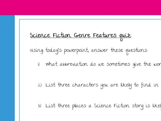 Quick Quiz on features of Sci-Fi Stories KS2 (with answers)