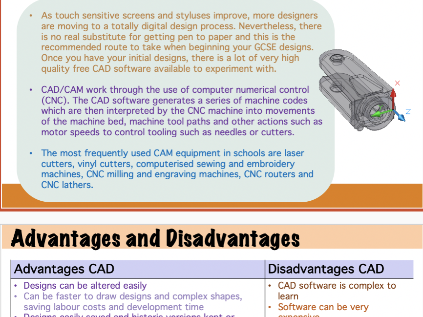 CAD and CAM Design Technology