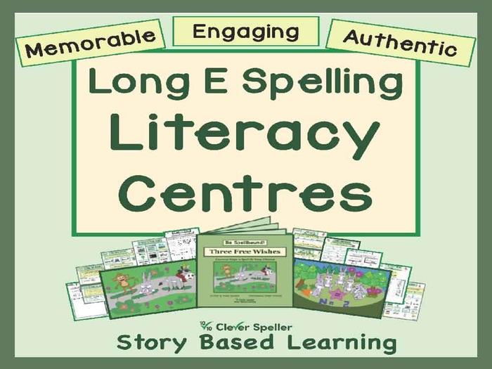Literacy Centre Long E Word Families
