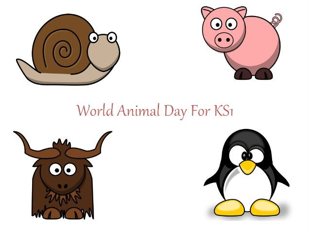 World Animal Day For KS1-  PowerPoint, Flashcards, Writing Prompts, 31 Different Teaching Activities