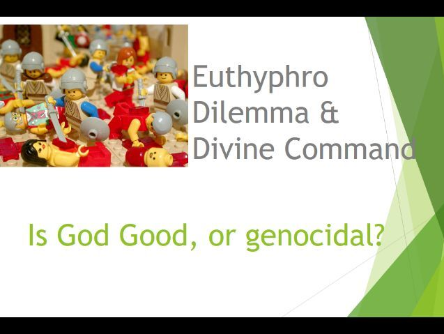 Euthyphro dilemma; relationship of religion to morality Edexcel  A Level
