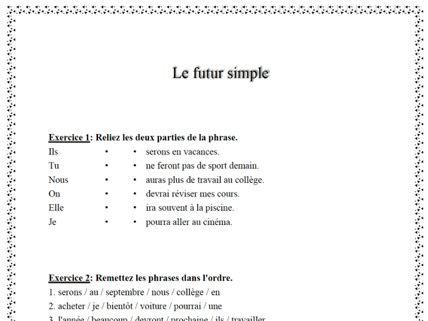 the future tense in French (le futur simple)