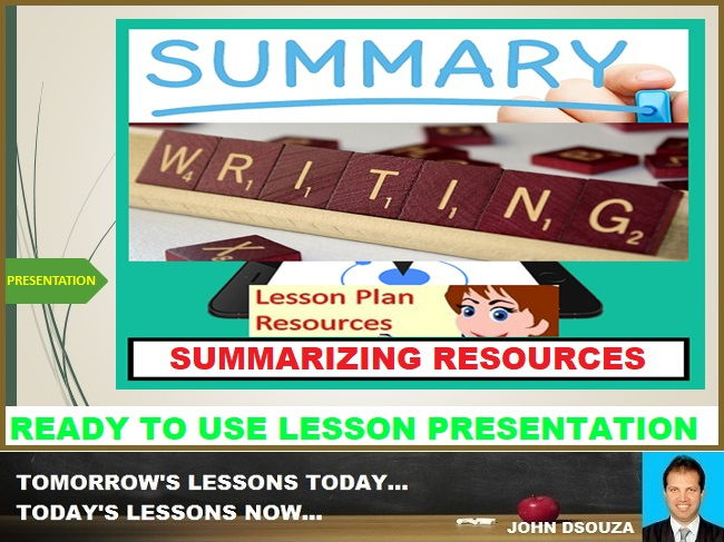 SUMMARY WRITING: READY TO USE LESSON PRESENTATION