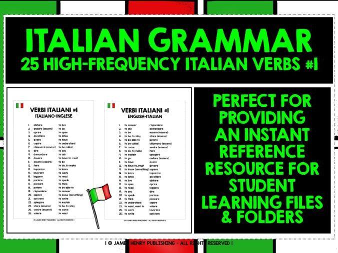 ITALIAN VERBS LIST #1