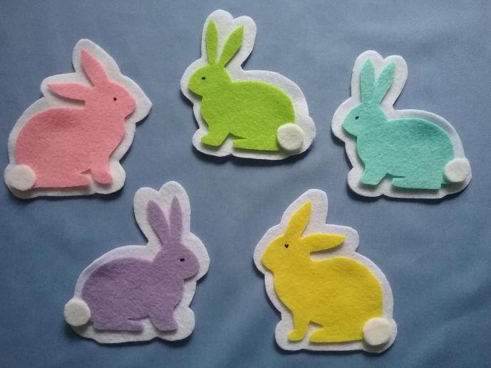 Hippety-Hop, Hippety-Hay Five Little Bunnies Felt Board Set Digital Pattern